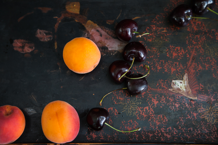 lysande aprikoser